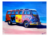 The Love Surf Bus Print by M Bleichner