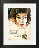 Vogue Cover - March 1958 - Good Looks Wall Art by René R. Bouché