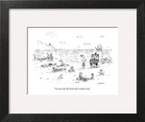 """I'm sorry, but this beach is for residents only."" - New Yorker Cartoon Wall Art by David Sipress"