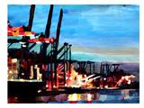Hamburghafen Poster by M Bleichner