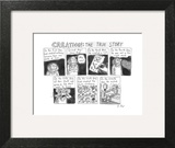 "A panel called ""Creation: The True Story"" which retells the Genesis creati… - New Yorker Cartoon Art Print by Roz Chast"
