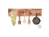 Rustic Kitchen Poster by Gina Maher
