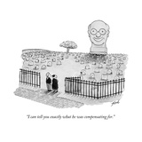 """I can tell you exactly what he was compensating for."" - New Yorker Cartoon Premium Giclee Print by Tom Toro"