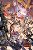 Marvel Secret Wars Cover, Featuring: Venom, Drax Posters