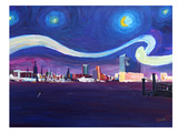 Starry Night In Hamburg Prints by M Bleichner