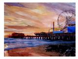 Santa Monica Pier 2 Print by M Bleichner