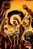 Marvel Secret Wars Cover, Featuring: Captain Marvel Prints