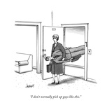 """I don't normally pick up guys like this."" - New Yorker Cartoon Premium Giclee Print by Tom Cheney"