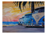 The Blue Surf Bus Line Prints by M Bleichner