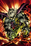 Hulk No. 12 Cover, Featuring: Hulk, Mess, Grey, Griffin, Prodigy Plastic Sign by Mark Bagley