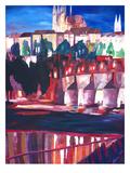 Prague - Hradschin With Charles Bridge Prints by M Bleichner
