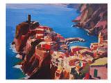 Vernazza Cinque Terre Art by M Bleichner