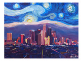 Starry Night In Los Angeles Print by M Bleichner