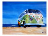 The California Dreaming Surf Bus Art by M Bleichner