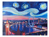 Starry Night In London Art par M Bleichner