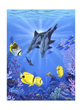 Dolphins of Light Giclée-tryk af  Apollo