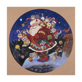 Here Comes Santa Claus Giclee Print by Bill Bell