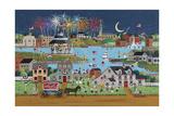 FireworksOverCoeLake Giclee Print by Anthony Kleem