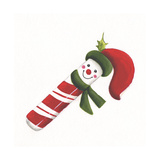 Smiling Candy Cane Giclee Print by Beverly Johnston