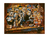 Bull Dog Blues Band Giclee Print by Bill Bell