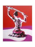 Samurai Giclee Print by  Abstract Graffiti