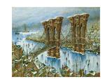 Brooklyn Bridge Giclee Print by Bill Bell