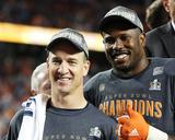 Von Miller, Peyton Manning - NFL Super Bowl 50, Feb 7, 2016, Denver Broncos vs Carolina Panthers Photo by Gregory Payan