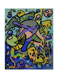 Neo Pop Dolphins Giclee Print by  Apollo