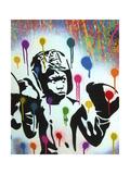 Boxer V Pollock Giclee Print by  Abstract Graffiti