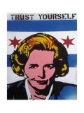 Trust Yourself Giclee Print by  Abstract Graffiti