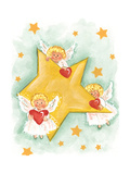 Angels and Stars Stampa giclée di Beverly Johnston