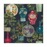 Japanese Vases Blue Giclee Print by Bill Jackson