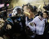 Cam Newton, Peyton Manning - NFL Super Bowl 50, Feb 7, 2016, Denver Broncos vs Carolina Panthers Photographie par Julio Cortez