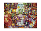 Teatime for Teddy Giclee Print by Bill Bell