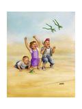 Frog Race Giclee Print by Dianne Dengel