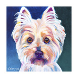 Westie Rockette Reproduction procédé giclée par  Dawgart