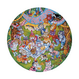 Birthday Cats Giclee Print by Bill Bell