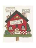 Teddy Bears Playhouse Giclee Print by Debbie McMaster