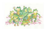 Frogs Giclee Print by Bill Bell