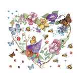 Butterfly Heart Giclee Print