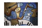 Musical Mural Giclee Print by Cherie Roe Dirksen