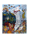 Alice and Humpty Dumpty Giclee Print by Bill Bell