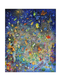 Raining Frogs and Fishes Giclee Print by Bill Bell