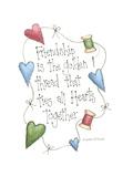 Friendship Is the Golden Thread Lámina giclée por Debbie McMaster