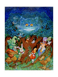 Alice and the Cheshire Cat Giclee Print by Bill Bell