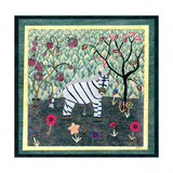 Zebra Giclee Print by David Sheskin