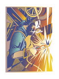 Welder's Spark Giclee Print by David Chestnutt