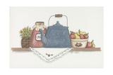 Teapot with Crock Reproduction procédé giclée par Debbie McMaster