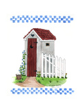 Grey Outhouse Giclee Print by Debbie McMaster