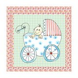 Square Card Baby in Carriage Giclee Print by Effie Zafiropoulou